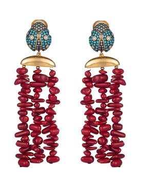 Begum Khan - Lady Bug Corsica Earrings - Women
