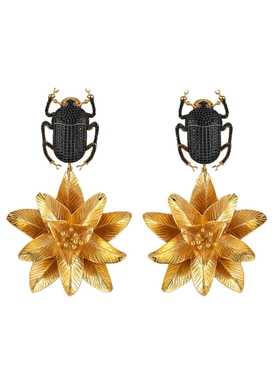 Begum Khan - Pharaoh Lotus Earrings - Women