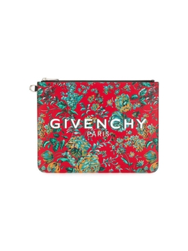Multicolored Tropical Flower Print Pouch