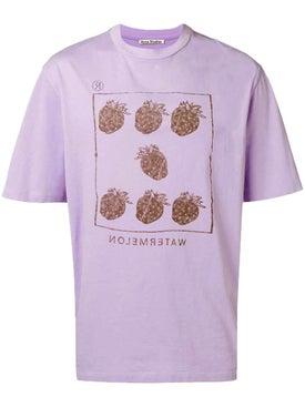Acne Studios - Berry Graphic T-shirt Purple - Men