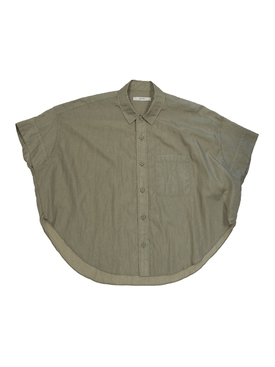 Short sleeve woven button up