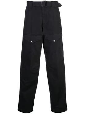 Givenchy - Belted Straight Leg Pants Black - Men