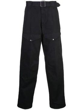 Givenchy - Belted Straight Leg Pants Black - Men