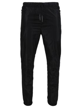 Black logo zip joggers