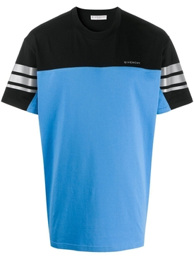 Blue & black color block t-shirt