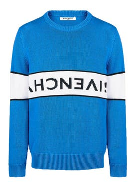 Givenchy - Reverse Logo Jumper Blue - Men