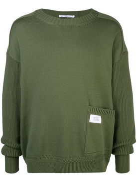 patch pocket jumper OLIVE GREEN
