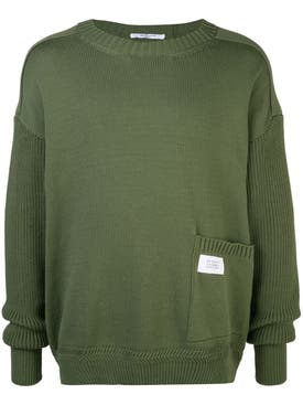 Givenchy - Patch Pocket Jumper Olive Green - Men