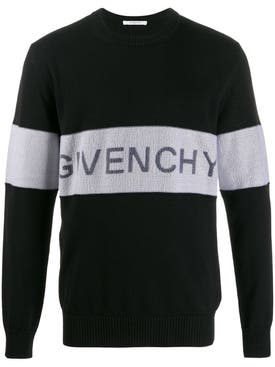 Givenchy - Contrasting Logo Band Sweater Black - Men