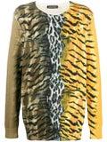 Neil Barrett - Safari Print Sweater Yellow - Men