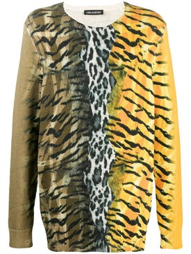Neil Barrett - Safari Print Sweater Yellow - Men