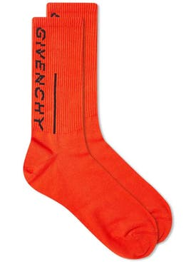 Givenchy - Split Logo Socks Red - Men