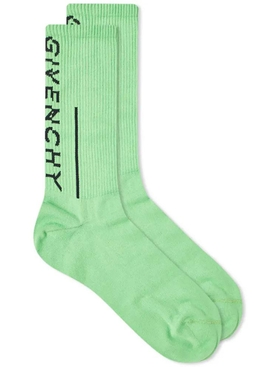 Split logo socks GREEN