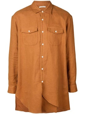 Julien David - Asymmetric Linen Shirt - Men
