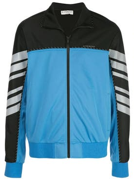 Givenchy - Black & Blue Color Block Track Jacket - Men