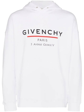 White over-sized logo hoodie