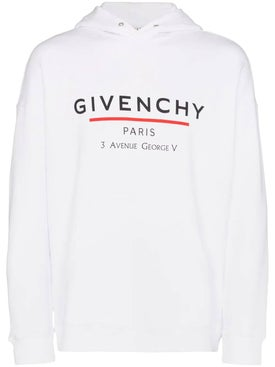 Givenchy - White Over-sized Logo Hoodie - Men