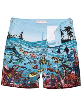 Orlebar Brown - Bulldog Fish Print Swim Shorts Tba - Men
