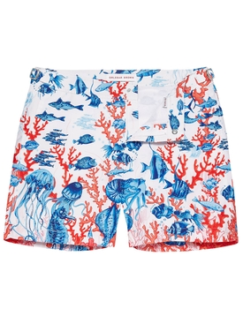 Bulldog Good Wives and Warriors Mid-Length Swim Shorts ABSTRACT