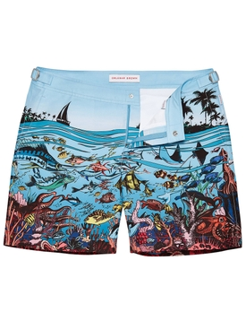 Bulldog Good Wives and Warriors Mid-Length Swim Shorts REEF SCENE