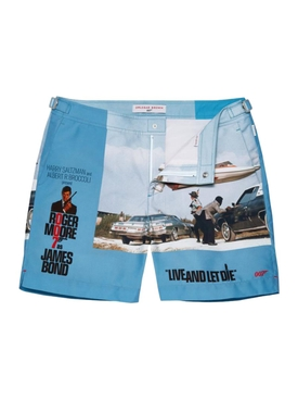 James Bond Swim Trunks LIVE AND LET DIE II