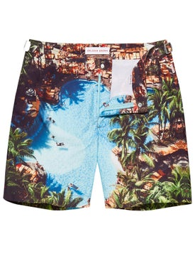 Orlebar Brown - Bulldog Blue Palms Swim Shorts Pooling Around - Men