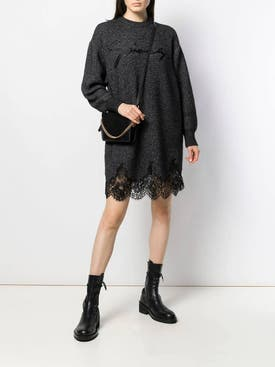 Givenchy - Lace Scalloped Sweater Dress - Women
