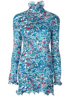 Givenchy - Frilled Floral Print Mini Dress - Women