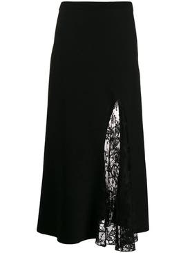 Givenchy - Lace Slit Skirt Black - Women