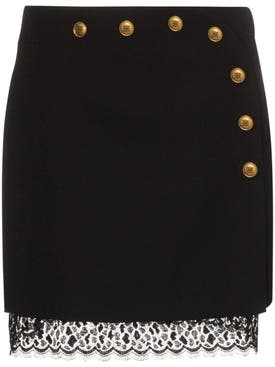 Givenchy - Button Embellished Mini Skirt - Women
