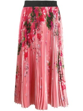 Givenchy - Pink Floral Midi Skirt - Women