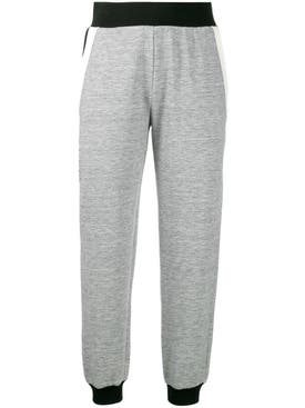Givenchy - Black Trim Track Pants Heather Gray - Women
