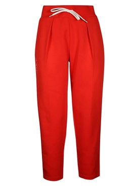 Red logo sweatpants