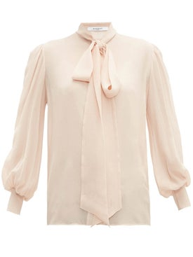 Givenchy - Long Sleeve Silk Blouse Skin - Women