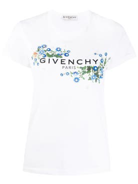 Givenchy - Blue Daisy Logo T-shirt - Women