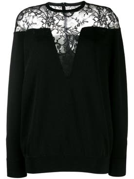 Givenchy - Lace Panel Sweater Black - Women