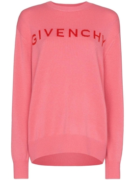 Pink logo cashmere sweater