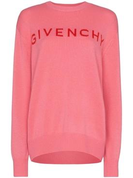 Pink logo cashmere sweater