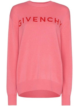 Givenchy - Pink Logo Cashmere Sweater - Women