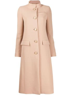 Givenchy - Classic Button Up Coat Beige - Women