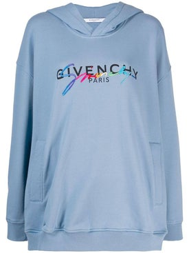 Givenchy - Contrast Logo Hoodie - Tops