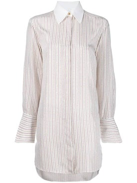 Chloé - Striped Silk Shirt - Tops