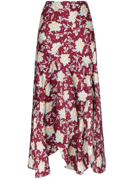 Chloé - Red And Blue Floral Print Skirt - Women