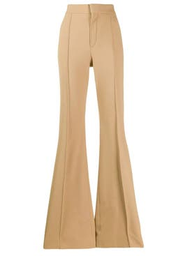 Chloé - Vegetal Brown High-waist Flared Trousers - Women