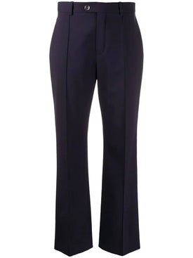 Chloé - Navy Cropped Tailored Trousers - Women