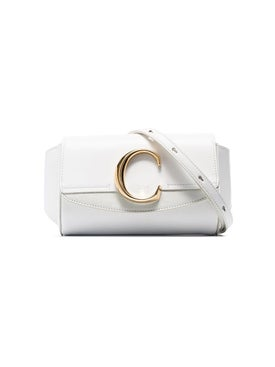 Chloé - White C-ring Flap-top Leather Belt Bag - Women