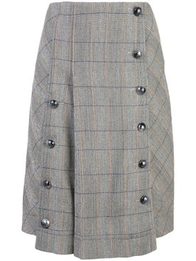 Chloé - Grey Plaid Skirt - Women