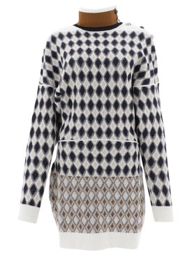 Chloé - Diamond Turtleneck Sweater Dress - Women