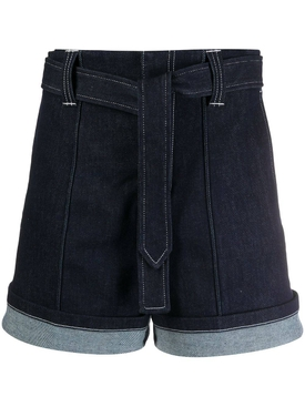 Nautical denim shorts