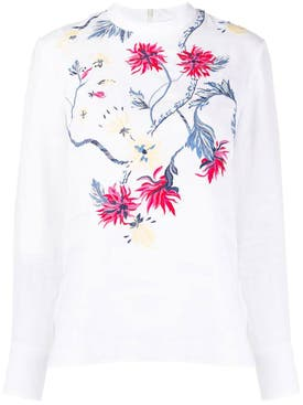Chloé - Floral Embroidered Linen Top - Women